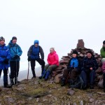 Annascaul Walkers on top of Caherconree Sunday 10th February 2013